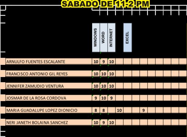 SABADO DE 11-2 PM
